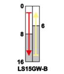 Limitator de cursa cu tija si arc LS15GW-B 1×CO, 2A/230V AC, 48mm, IP00