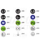 Eticheta autoadeziva, EX JC12 d=20 mm