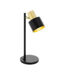 Lampa de masa FIUMARA negru, gold 220-240V,50/60Hz