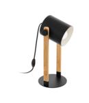 Lampa de masa HORNWOOD negru, creme 220-240V,50/60Hz