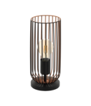 Lampa de masa ROCCAMENA negru, copper 220-240V,50/60Hz