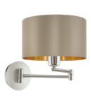 Lampa perete MASERLO satin nickel 220-240V,50/60Hz IP20