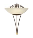 Lampa perete MESTRE antique-brown, gold 220-240V,50/60Hz IP20