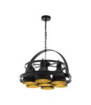 Lampa suspendata BACKBARROW negru, gold 220-240V,50/60Hz