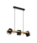 Lampa suspendata HORNWOOD negru, creme 220-240V,50/60Hz