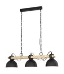 Lampa suspendata LUBENHAM negru, brown 220-240V,50/60Hz