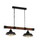 Lampa suspendata OLDBURY negru, brown rustic 220-240V,50/60Hz