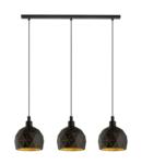 Lampa suspendata ROCCAFORTE negru, gold 220-240V,50/60Hz