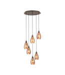 Lampa suspendata SIRACUSA brown 220-240V,50/60Hz