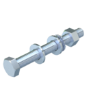 Hexagonal bolt with nut and washer M10 | Type SKS 10x90 F