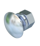 Truss-head bolt with nut and washer F | Type FRS 12x25 F