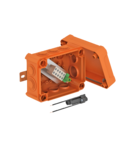 Doza antifoc T100ED with external fastening, fuse holder and impact-proof cover | Type T100ED 6-6 AFS