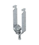 Clamp clip, double, metal pressure trough | Type 2056 M2 28 FT