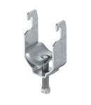 Clamp clip, single, metal pressure trough FT   Type 2056U M 12 FT