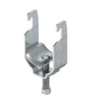 Clamp clip, single, metal pressure trough FT | Type 2056U M 16 FT