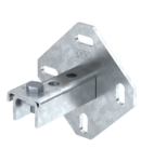 Wall, floor and ceiling bracket with 3 holes | Type WBDHE 41 A4