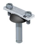 Spacer clip for flat conductor, with steel spreading anchor Ø 10 | Type 710 40