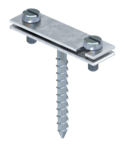 Spacer clip for flat conductor, with wood screw | Type 708 40 HG