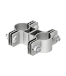isFang support for pipe mounting, ø 40−50 mm | Type isFang TS40-50