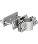 isFang support for corner pipe mounting, 50 x 50 mm | Type isFang TS50x50