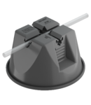 Roof cable holder for flat roofs, black | Type 165 MBG-8 FO