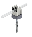 Screwless cable bracket for Rd 8 mm, fastening with screw and anchor | Type 177 20 VA B-HD
