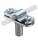 Cable bracket with hinged crossbar Rd 8−10, 30 mm mounting height, galvanised | Type 168 DIN-K-M8