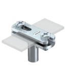 Cable bracket with crossbar FL, 30 mm mounting height galvanised | Type 168 FL30-M6