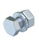 Hexagonal bolt with nut and washer M6 | Type SKS 6x12 F