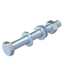 Hexagonal bolt with nut and washer M10 | Type SKS 10x25 F