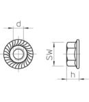 Flange nut A2 | Type KM M12 A4
