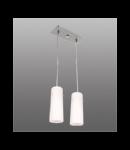 Lustra Lira 12 cu 2 becuri- Brilux - Corpuri de iluminat crom satin / alb
