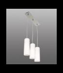 Lustra Lira 13 cu 2 becuri- Brilux - Corpuri de iluminat crom satin / alb