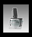 Spot fix cu geam decorativ S-50SG Brilux -crom satin