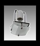 Spot fix cu geam decorativ S-50UG Brilux -crom satin
