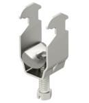 Clamp clip, single, metal pressure trough, A2 | Type 2056 M 40 A2