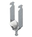 Clamp clip, double, plastic pressure trough FT   Type 2056 2 34 FT