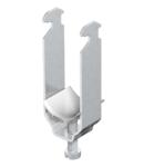 Clamp clip, double, plastic pressure trough ALU | Type 2056 2 34 ALU
