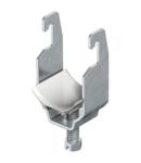 Clamp clip, single, plastic pressure trough FT | Type 2056U 64 FT