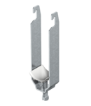 Clamp clip, triple, plastic pressure trough | Type 2056U 3 40 FT