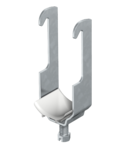 Clamp clip, single, plastic pressure trough FT | Type 2056W 34 FT
