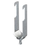 Clamp clip, double, plastic pressure trough | Type 2056W 2 28 FT