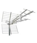 Antena DVB-T/UHF de exterior,F,Canal 21-60,Al