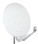 Antena satelit 100cm/95cm,Al,>40dB,sup.dubl.LNB incl.,alb