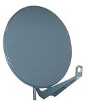 Antena satelit 85cm/80cm,Al,40dB,sup.dubl.LNB incl.,antracit