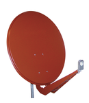 Antena satelit 85cm/80cm,Al,40dB,sup.dubl.LNB incl.,rosu
