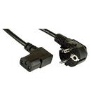 Cablu alimentare Schuko - C13 mama 90°, negru, 5m
