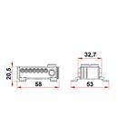 Clema cu conexiune rapida, alb, 2 x 25mm², 14 x 6 mm²