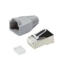 Conector RJ45 pt flex Cat.6 ecranat incl. manson gr, 100 buc