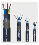 Cablu rigid curpu cu armare din benzi de otel 4x25